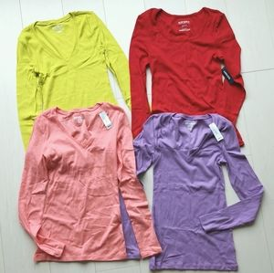 Bundle 4 Nwt old navy cotton long sleeves